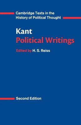 kant political writings pdf h s reiss cambridge