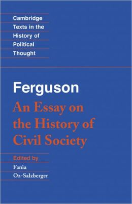 Ferguson: An Essay on the History of Civil Society