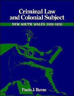 Criminal Law and Colonial Subject