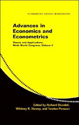 Advances in Economics and Econometrics, Volume 2: Theory and Applications, Ninth World Congress