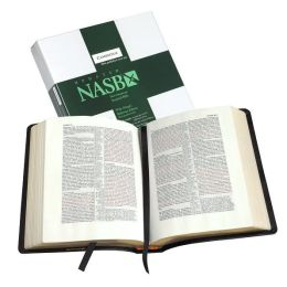 NASB Wide-Margin Reference Green Hardcover NS743XRM