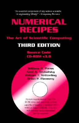 Numerical Recipes Source Code CD-ROM: The Art of Scientific Computing