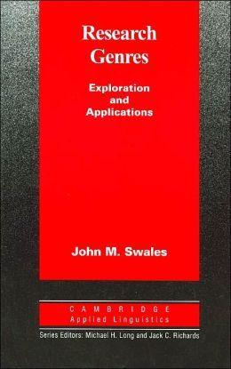 Research Genres: Explorations and Applications