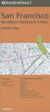 San Francisco/No. Penin Streets, California Map