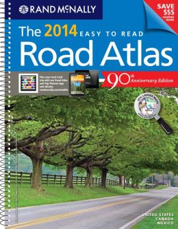 2014 Midsize Easy to Read Road atlas
