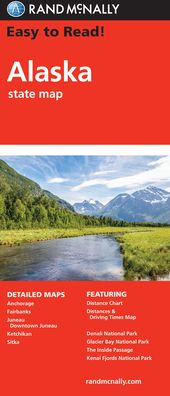 Alaska Easy to Read Map