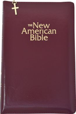 NAB Deluxe Gift and Award Bible: New American Bible, burgundy imitation leather, zip cased
