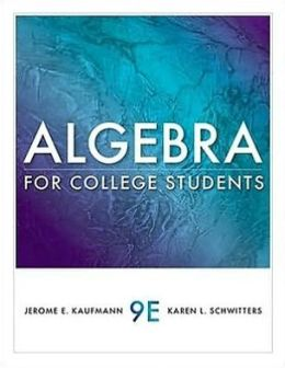 Algebra for College Students, 9th Edition