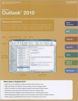 Microsoft Outlook 2010 Web Application CourseNotes