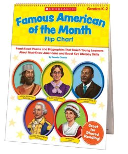 Famous American of the Month Flip Chart: Read-Aloud Poems and Biographies That Teach Young Learners About Must-Know Americans and Boost Key Literacy Skills (PagePerfect NOOK Book)