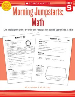 Morning Jumpstarts: Math: Grade 5: 100 Independent Practice Pages to Build Essential Skills (PagePerfect NOOK Book)