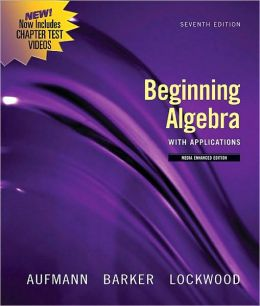 Beginning Algebra with Applications, Multimedia Edition