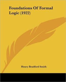 Foundations of Formal Logic