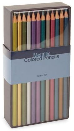 Metallic Colored Pencils Set of 12