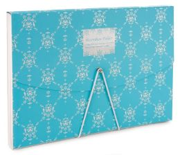 English Blue Vines Accordion Folder