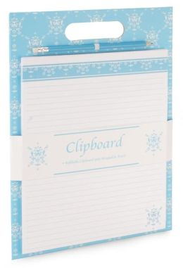 English Blue Vines Clipboard with Pad