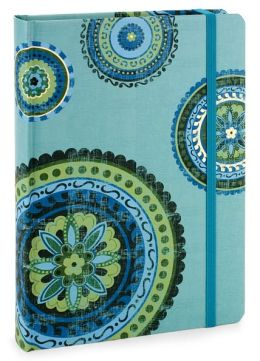 Teal Medallions Lined Journal 6x8
