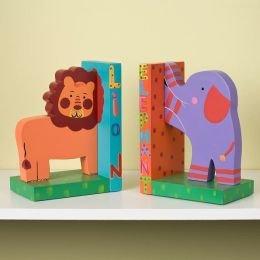 Jungle Animals Wooden Bookends