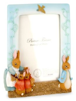 Peter Rabbit Sculpted Resin Picture Frame 4 x 6