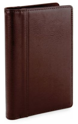 Brown Bonded Leather Business Card Folio-Brown