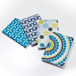Jonathan Adler Meadow Mosaic Blue Teal Journals - Set of 4
