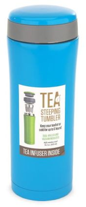 Blue Tea Tumbler with Strainer