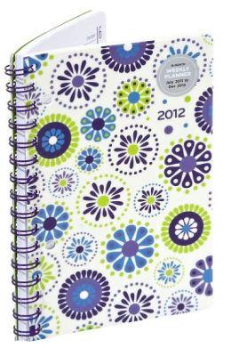 2012 Weekly Planner 5x8 Blue Green Bandana Engagement Calendar