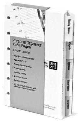 2012 Refill 5'' Organizer 6 Ring 18 Month Calendar
