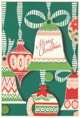 Vintage Bell & Ornaments 10 Assorted Christmas Boxed Card