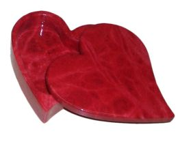 Absolute Red Italian Alabaster Heart Swivel Top Trinket Box-4