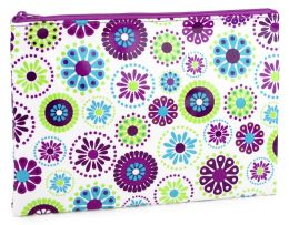 Bandana Purple Green Accessory Pouch (7x10)