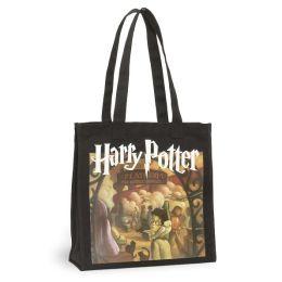 Harry Potter Black Canvas Tote (13.5x14x5)