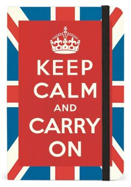 Keep Calm Bound Pocket Lined Journal 4 X 6