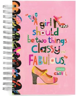 100% Recycled A Girl Should Be Two Things Shoe Lined Spiral Journal 6x9