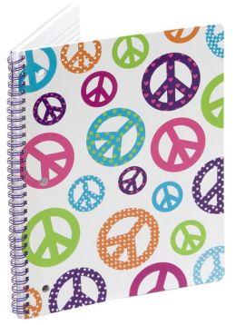Peace Retro Lined Theme Book (8x10.5)