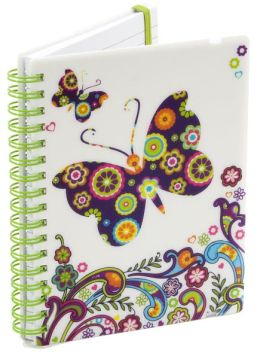 Boho Butterfly Lined Pearl Journal (4x6)