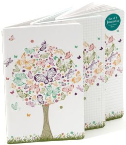 Butterfly Tree Recycled Journals Set of 3 (5x8)