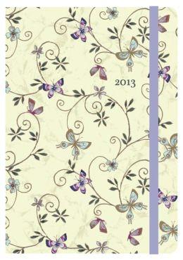 2013 Weekly Planner 5x7 Butterfly Garden Bound Engagement Calendar