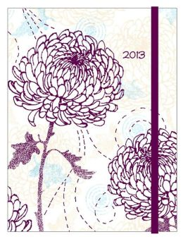 2013 Weekly Planner 6x8 Flexi Chrysanthemum Engagement Calendar