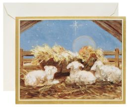Baby Jesus In Manger Christmas Boxed Card