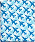 Product Image. Title: Jonathan Adler Jet Set Cover in Blue and White