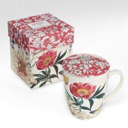 Scrapbook Lidded Tea Mug with Mesh Strainer
