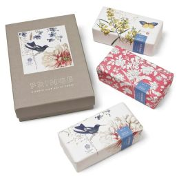 Scrapbook Bird Botanical Soap Set of 3