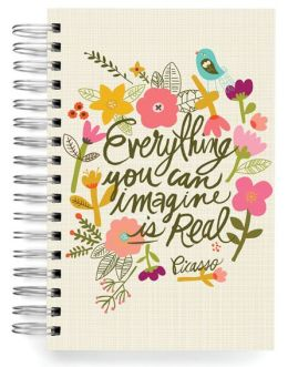 100% Recycled Everything You Can Imagine Quote Lined Spiral Journal 6