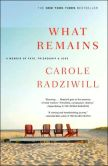Book Cover Image. Title: What Remains:  A Memoir of Fate, Friendship, and Love, Author: Carole Radziwill