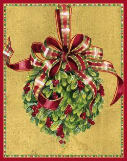 Mistletoe Kissing Ball Christmas Boxed Card