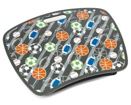 Sports Stripe Grey Multi Lap Desk with Zip Pocket