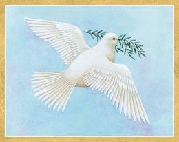 DOVE LIGHT BLUE CHRISTMAS BOXED CARD