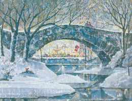 NY CENTRAL PARK SCENE CHRISTMAS BOXED CARD