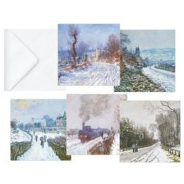 Monet Snowscenes Folio Christmas Boxed Card